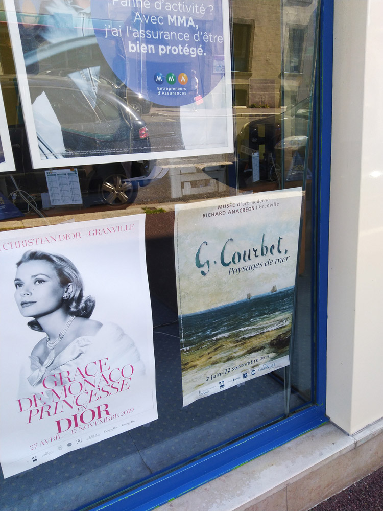 Affichage vitrine promotion exposition Gustave Courbet