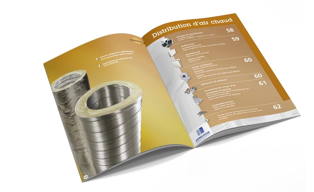Joncoux catalogue distribution d'air chaud design Iconicité
