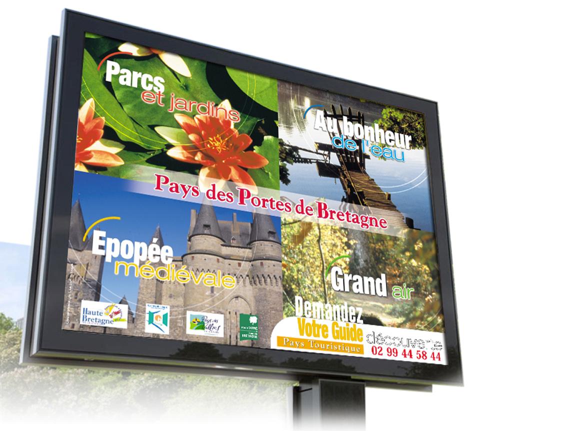Affiche 12m2 Pays des Portes de Bretagne design Iconicité