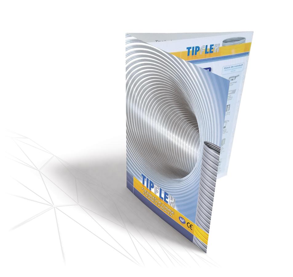 Plaquette Tipflex 2 plis portefeuille par Iconicité graphiste à Annoville Manche