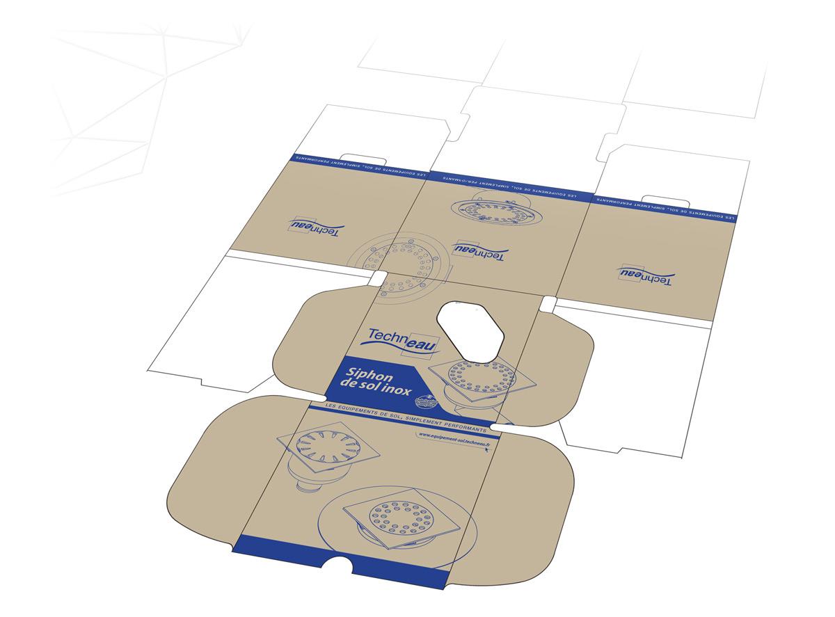 Deroulé format pour sérigraphie sur carton ondulé