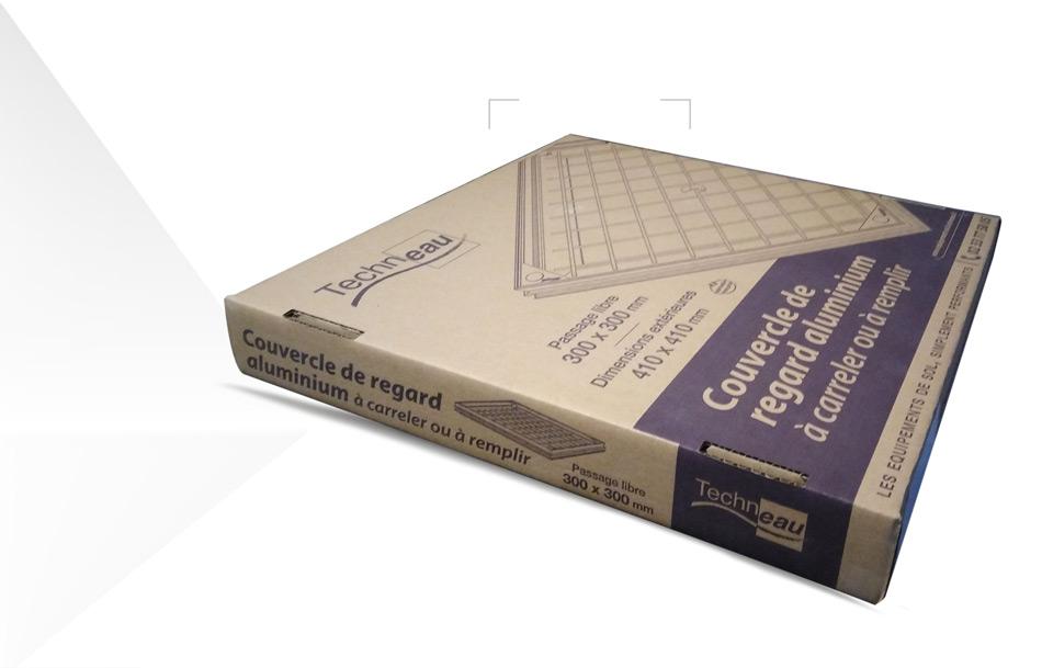 Design emballage carton ondulé couvercle par Iconicité