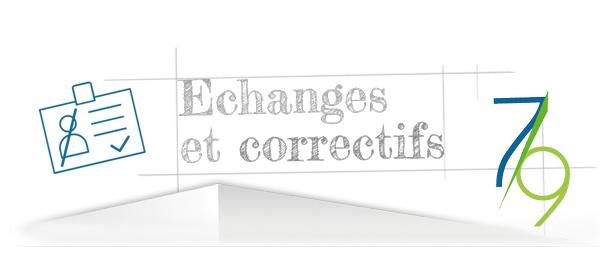 Echanges et correctifs étape 7