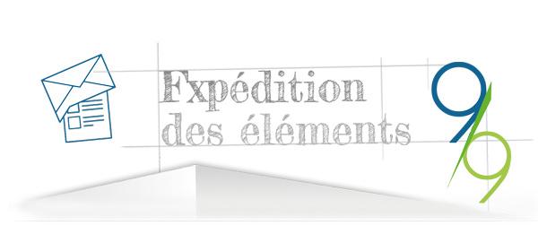 l'expédition du projet étape 9