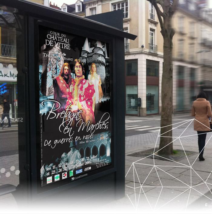 Bretagne en Marches Vitré campagne affichage abribus