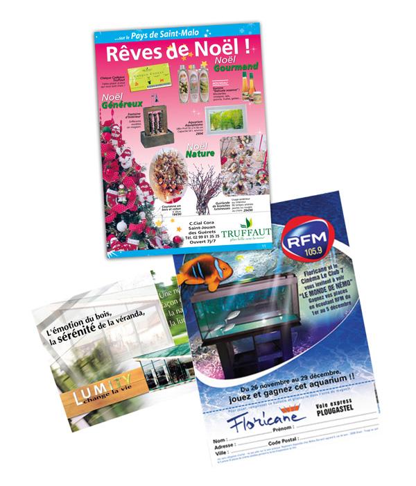 Publicités et flyers par Iconicité