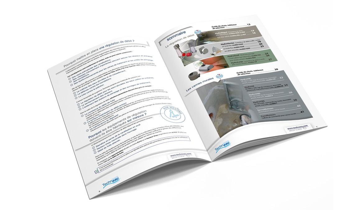 Détail sommaire gamme équipements hydrauliques Techneau par Iconicité