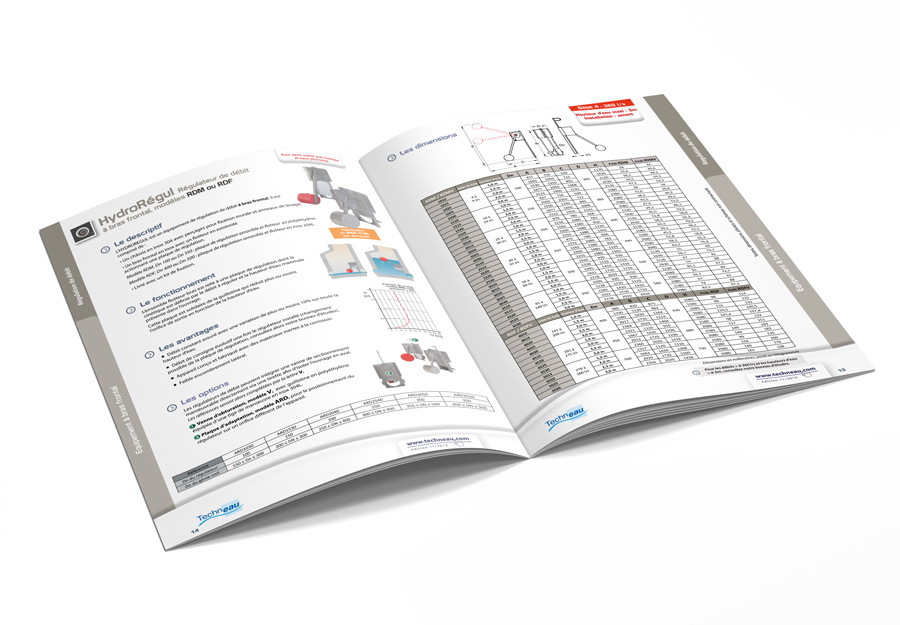 Catalogue équipements hydrauliques Techneau page produit par Iconicité