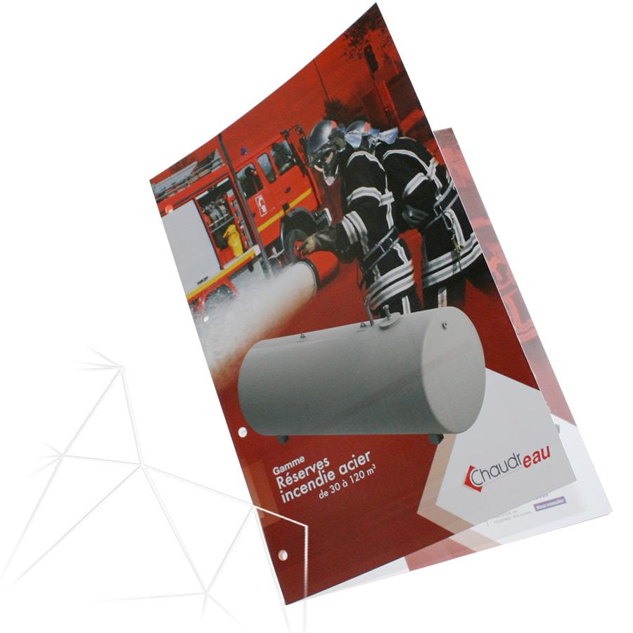 Première de couverture plaquette Chaudronnerie Industrielle par Iconicité