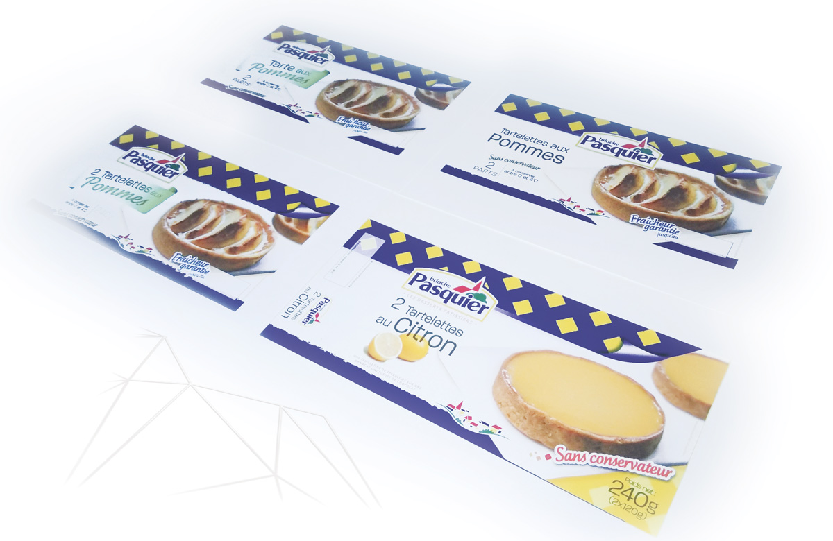 Pistes relooking facings packaging gamme tartelettes desserts patissiers