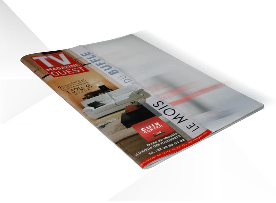 Iconicité graphiste Manche archive crea cuir center surcouverture TV Mag