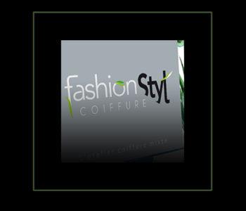 Logotype Fashion Styl' coiffure Annoville par Iconicité